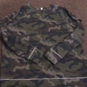 American Eagle Outfitters Camo Sweater